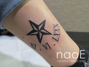 トラッドスター×ギリシャ文字 Nautical Star×Greek letters Estrella náutica×letras griegas Étoile nautique×Lettres grecques